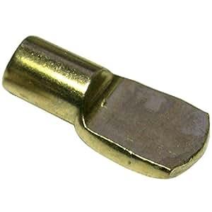 Taquet d'étagère acier tige ø 7 mm 12 taquets désignation laitonné couleur