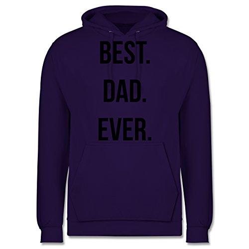 Vatertag - Best Dad Ever - Männer Premium Kapuzenpullover / Hoodie Lila