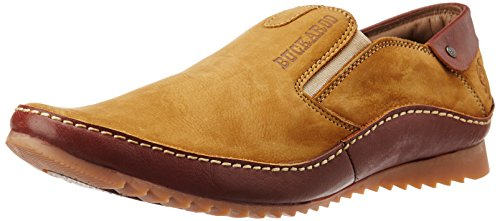 BCK (By Buckaroo) Men's Destin Camel Leather Slip-on Loafers - 9 UK  available at amazon for Rs.2425