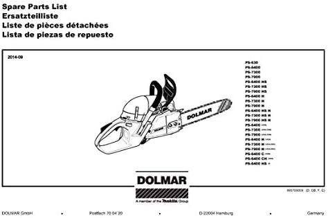 Dolmar 38245061 - Cavo per per per stampa a olio, ricambio originale PS-7900 H | Di Alta Qualità  | Conosciuto per la sua bellissima qualità  | Aspetto estetico  ba6124