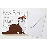 Happy Birthday to My Otter Half Card
