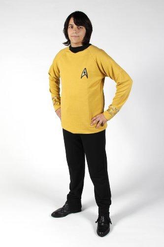 erie - Raumschiff Enterprise - Uniform Oberteil + Hose - Captain - Super Deluxe - XL (Star Trek Original Serie Kostüme)