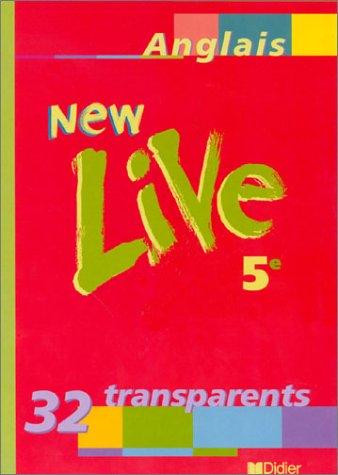 New live, anglais cinquième, 32 transparents (pochette)