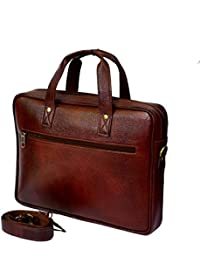 """Stylish 15"""" Genuine Pure Leather Laptop Sleeve Messenger Office Bag By-Widnes"""