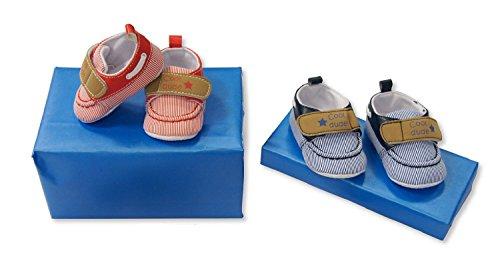 PinkBlueWhite , {Chaussures premiers pas pour bébé (garçon) rouge Red 6/12 Months Red