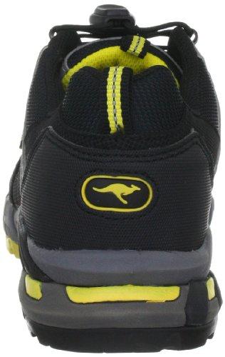 KangaROOS Tamika 31563, Sneaker donna Nero (Schwarz (blk/blei/neonyellow 578))