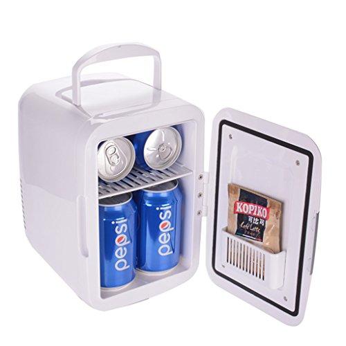 QIHANGCHEPIN Tragbare 4L Auto Kühlschränke Kühlung Heizung Dual-use Mini Kühlschrank Sparsame Gefrierschrank 12 V Kühler Box Camping Hause Kühlschrank Weiß