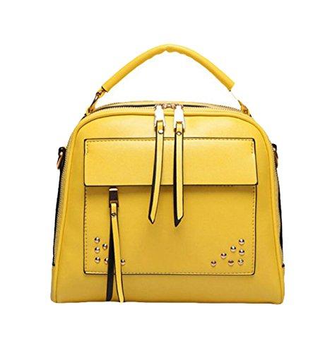 Art Und Weisehandtasche Diagonale Paketnietschulterbeutel Einfaches Wildes Yellow
