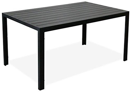 KMH, Alu-Gartentisch *Tuco* schwarz 150 x 90 cm (#106036)