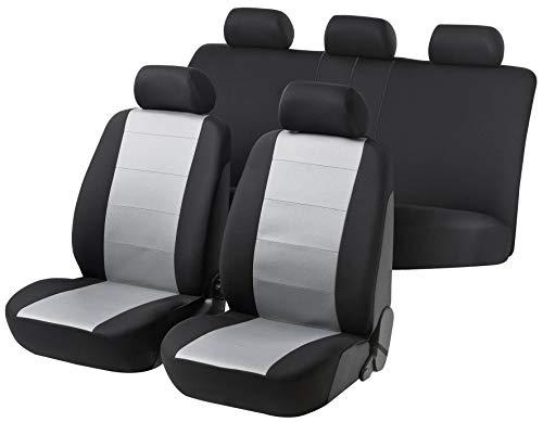 rmg-distribuzione Coprisedili per Giulietta Versione (2010 - in Poi) compatibili con sedili con airbag, bracciolo Laterale, sedili Posteriori sdoppiabili Colore Nero Grigio Chiaro R18S0014