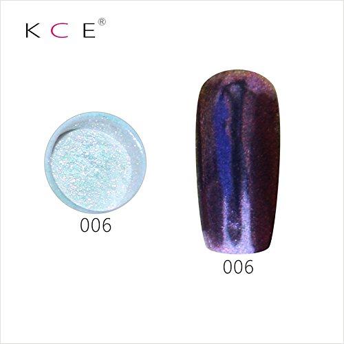 topbeauty Nail Art Paillettes Brillant miroir chrome Pigment poudre Nail Art Outils avec éponge à 6