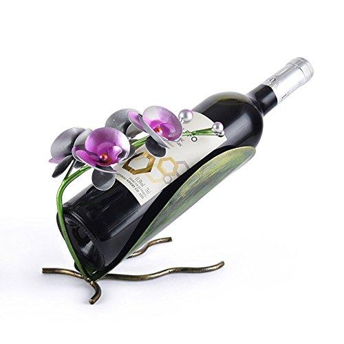 GBYZHMH Kreative Schmiedeeisen Phalaenopsis Weinregal Wein Flasche Wein Rack Schrank TV-Schrank Schmuck Küche Esstisch Dekoration Wein Display Stand Möblierung (Nachttisch Schmuck Schrank)