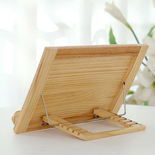 DFHHG® Librero Soporte de libro 26,5 * 36,5 Cm Marco de lectura de madera maciza Madera maciza durable