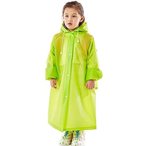 FEIFEI Imperméable à l'eau de la mode des enfants Voyage en plein air Seule personne coupe-vent Protection contre la neige Protection contre le soleil Hauteur applicable: S (100-120cm) M (110-130cm) L (120-140cm) XL (130-150cm) ( Couleur : Vert , taille : S )