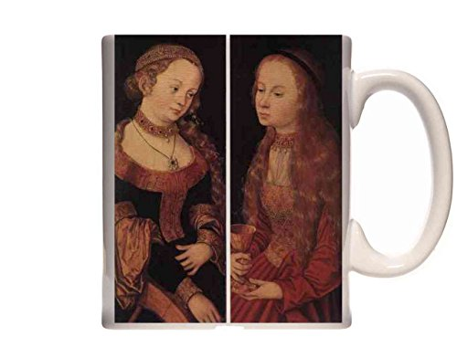 Mug CRANACH Lucas the Elder St Catherine Of Alexandria And St Barbara Ceramic Cup Gift Box