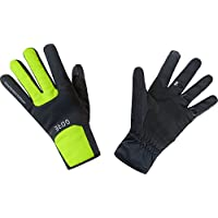 GORE Wear Guantes cortavientos unisex, M GORE WINDSTOPPER Thermo Gloves, Talla: 8, Color: Negro/Amarillo neón, 100310