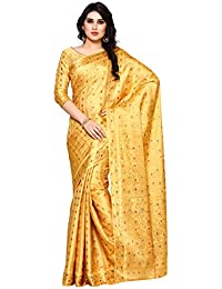 Mimosa Women's Silk Saree With Blouse Piece (4106-220-Sd-Cndn_Yellow)