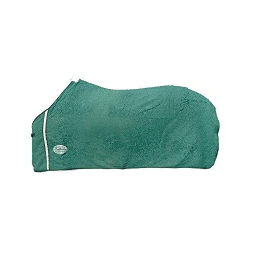 Umbria equitazione Couverture Éponge avec Fermeture Avant Clip Mod Towel, Hunter Green, 120