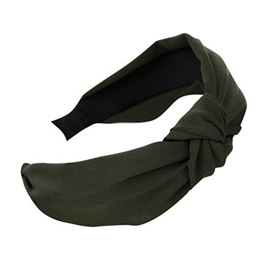 Zegeey Damen Stirnband Haarreif Blumen BöHmen Knoten Retro MäDchen Haarschmuck Haargummis Haarband Verfassungs Partei Headwear(B-Armeegrün)