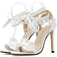 Pump16cm Stilett Peep Toe Sandalen Kleid Schuhe Hochzeit Schuhe Frauen 7cm dicke Plattform Seude Bowknot Party...