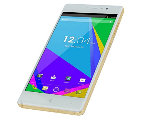 Chilli H2 Mobile 5 inch IPS Screen Android 5.1 Lollipop 1 GB RAM and 8 GB Internal Memory Dual Camera with Selfi and Back Flash Dual SIM Smartphone (Gold)