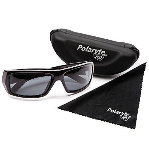 Polaryte HD–Gafas de sol polarizadas, visión de alta definición, UVA UVB UV400, negro