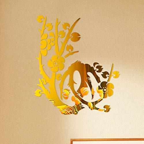 LIGEsayTOY 3D DIY Blumen Form Acryl Wandaufkleber Moderne Aufkleber Dekoration Prinzessin bunt Istanbul Party im Frankfurt Kitty Igel leucht Tropische lilien -