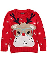 Bebé niña de navidad suéter para niñas más pequeñas Rudolph Reno personaje cuello redondo Kidswear