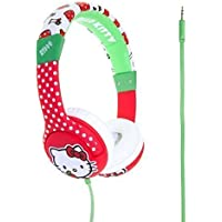"NEW! Hello Kitty Headphones for Children - Kids Headphones - HK0351 ""Kitty Apples"" - Red"