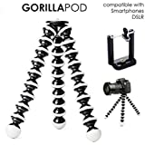 """BOKA® Flexible Foldable 13"""" Inch Gorilla Tripod Octopus Stand for All Smartphone,Action & DSLR Camera's Use in Photography, Video Recording,Youtubers etc.- (Black)"""