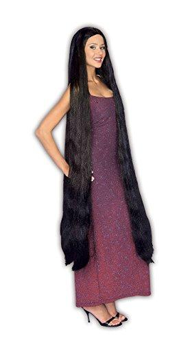 Forum Novelties Inc. Lady Godiva Cher Extra-lange schwarze Kostüm-Perücke für ()