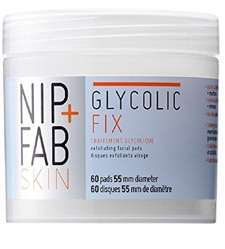 Pincement + Fix Glycolique Exfoliant Visage Tampons Fab (60)