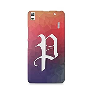 Printed back cover for Lenovo K3 Note by Motivatebox.Colourfully Designed Alphabet P - Gift for Persons Whose Name Starts With P design, Polycarbonate Hard case with premium quality and matte finish