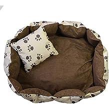 OrLine Cama de Lujo Perros Perros Cojín con Inferior un Antideslizante Suelo Color tamaño Elegible S