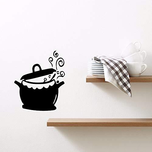 zqyjhkou Home Decor Vinile Cucina Pentole E Padelle Adesivi Murali Rimovibile Cucina Acqua Bollitore Wall Sticker Decorazione della Cucina Ay615 42x50 cm