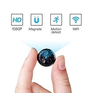 venta de mini camaras espias: Fredi HD1080P WiFi Cámara Espía Cámara Oculta Mini cámara espía inalámbrico Hidd...