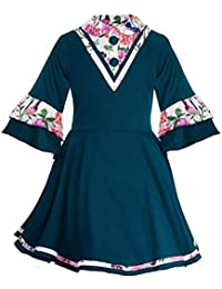 Naughty Ninos Girls' Shirt Knee-Long Dress