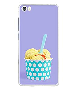 Snapdilla Designer Back Case Cover for Xiaomi Mi 5 :: Redmi Mi5 (Yogurt Cream Circles Cool Taste Scoops Butter)