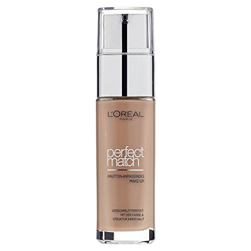 L'Oréal Paris Foundation Perfect Match, deckendes Make Up perfekte Verschmelzung mit dem Hautton & 24h Feuchtigkeit, 1er Pack