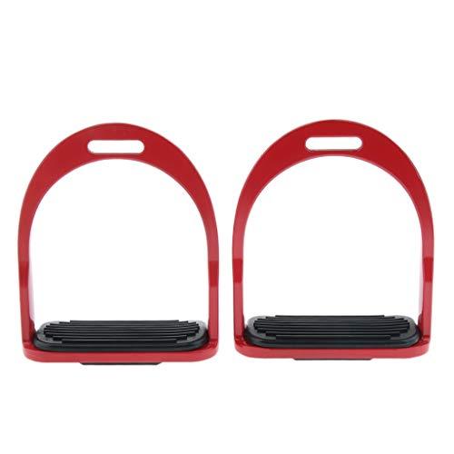 FLAMEER 1 Paar Sicherheitssteigbügel Steigbügel aus Aluminium - rot