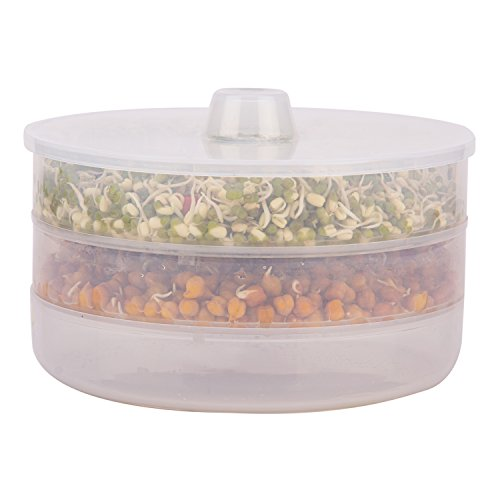 piKASO Premium Health Plus 3 Container Sprout Maker (Transparent)  available at amazon for Rs.375