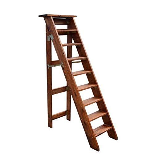 9 gradini di grandi dimensioni in legno massello di tipo A ripiegabile pieghevole sgabello stabile di sicurezza casa biblioteca soppalco ascendente scala scaffale a fiori rack - capacità di carico 150