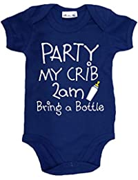Dirty Fingers, Party my crib 2am, Bring a Bottle, Baby Unisex Bodysuit