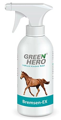 Green Hero Bremsen-Ex Spray für Pferde, 500 ml, Blocker gegen Bremsen, Fliegen, Zecken und Insekten, Pflegende Wirkung, Abwehrspray, Fernhaltemittel