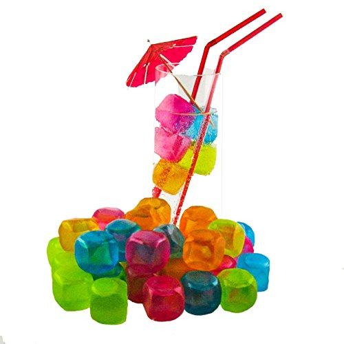 K7plus Bunte Party Eiswrfel 20 Stck Aus Kunststoff Mit Wasserfllung Immer Wieder Verwendbar
