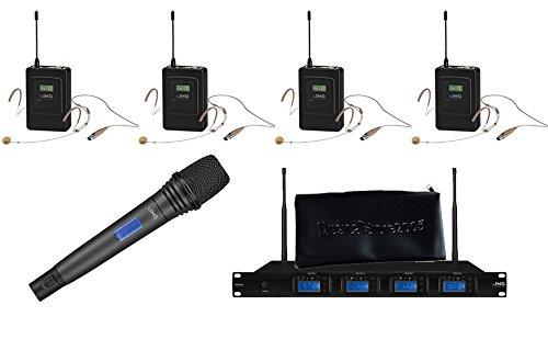 IMG Sistema Microfonico Wireless Professionale 1000 Canali / 4 Headset / 1 Gelato