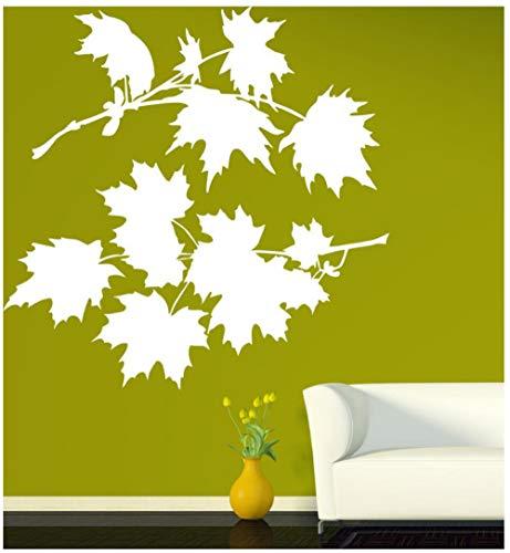 Bush-schlafzimmer-möbel (Wandaufkleber Blätter Ahornbaum Wandaufkleber für Schlafzimmer Bush Schöne Blütenblätter Vinyl Aufkleber Moderne Natur Wohnzimmer Wohnkultur 79x75 cm)