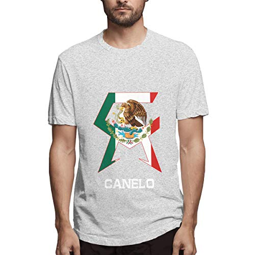 Canelo Box Alvarez Shirts T-Shirt Männer Sport Cool T-Shirt T-Shirts für Mens Fashion Casual Grau -