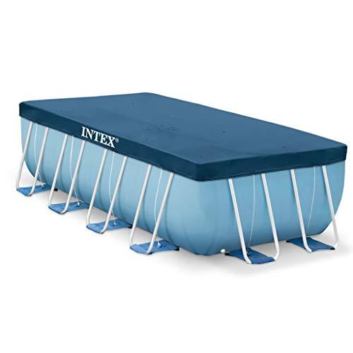 Festnight - telone di copertura per piscina, rettangolare, in polietilene, 400 x 200 cm, colore: blu scuro