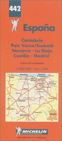 Carte routière : Espagne Nord, N° 442 par Cartes Michelin